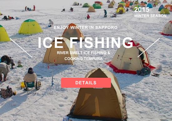 Ice Fishing in Sapporo Hokkaido